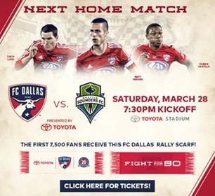 FC Dallas vs. Seattle Sounders 032815